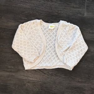 Cropped gold sweater